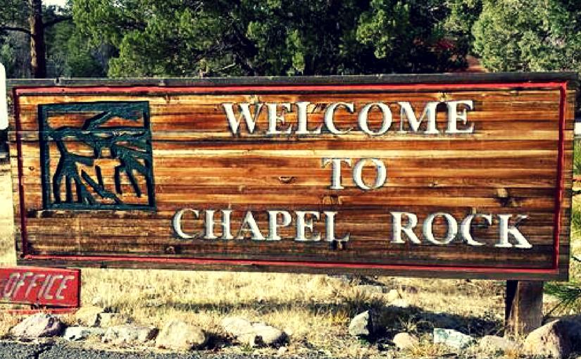 chapel rock sign
