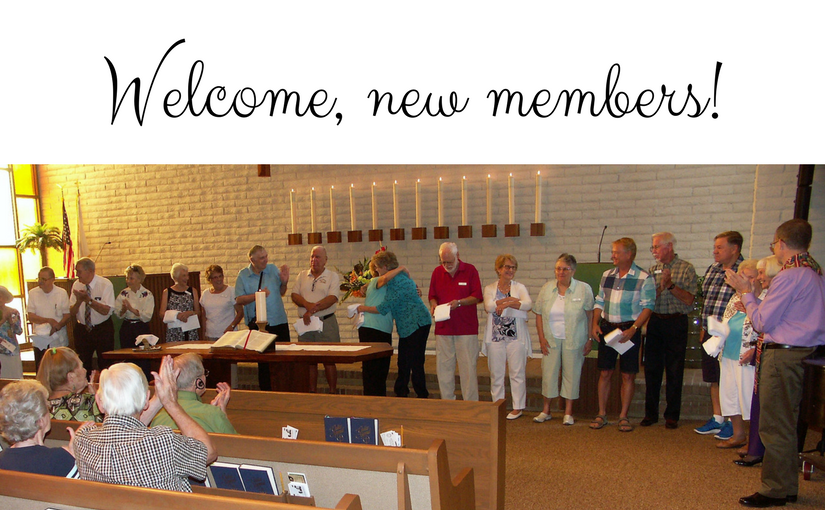 Welcome, new members!