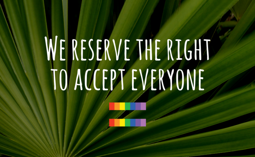 We reserve the right to accept everyone. Church of the Palms United Church of Christ, Sun City, Arizona